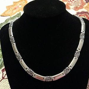 Lia Sophia Silver Chain Necklace